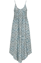 Picture of Delilah Dress Reef Blue/Coffee/Creme