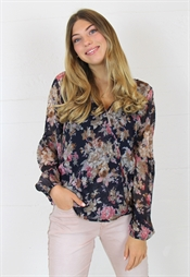 Picture of Cheryl Blouse Ocean Blue/Rose