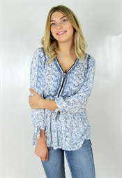 Bild på Edith Tunic Dream Blue/Off White