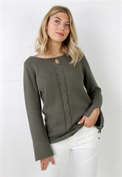 Kuva Eve Sweater Khaki Green