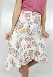 Bild på Iris Wrap Skirt Creme/Candy Rose/Lemon 99,50 ex moms