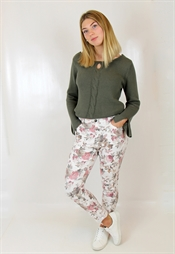 Picture of Miranda Pants Rose/Salvia/Creme