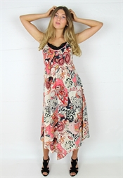 Picture of Nell Dress Sand/Asphalt/Coral