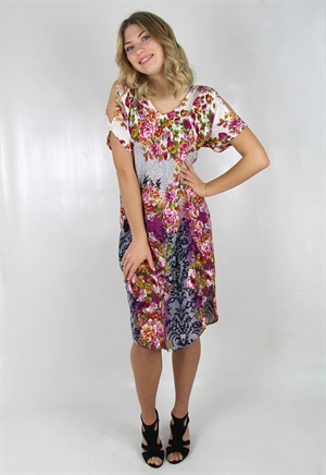 Bild på Rose Dress Fuchsia/Deep Blue/Creme 106:- ex moms
