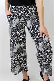 Kuva Callie Pants Sand/Black Animal Print