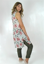 Picture of Darlene Tunic Rose/Creme