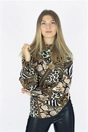 Bild på Athena Blouse Black/Bronze/Creme