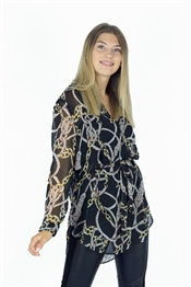 Bild på Valora Shirt Black/Gold/Sand