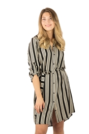 Bild på Malou Shirt Dress Black/Sandstone/Creme