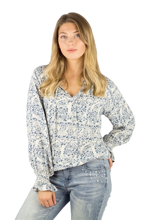 Picture of Marion Tunic Dream Blue/Antique Creme