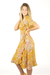 Bild på Liv Dress Sun Yellow/Rosebud