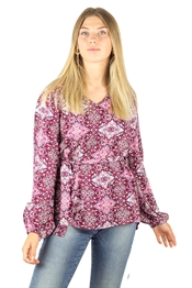 Picture of Estelle Tunic Candy Rose/Cherry/Creme