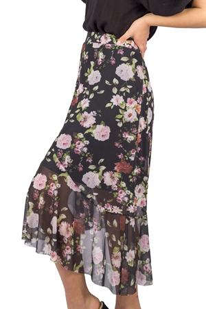 Bild på Floria Skirt Black/Rose/Magnolia