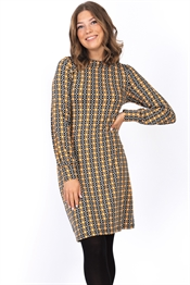 Picture of Daphne Dress Black/Saffron/Creme