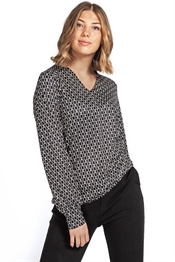 Picture of Dory Blouse Black/Creme