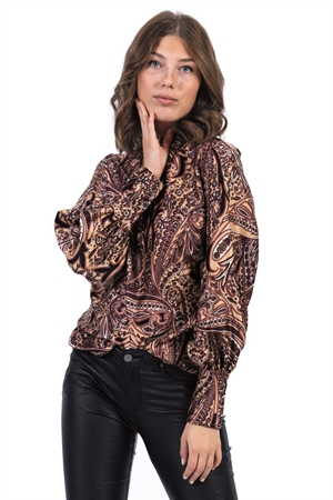 Bild på Amberly Blouse Bordeaux/Camel/Black