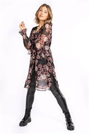 Picture of Cosette Shirt Tunic Black/Rose/Sand