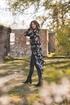 Bild på Amina Long Shirt Black/Sandstone/Creme