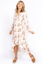 Picture of Malva Kaftan Dress Champagne/Rose