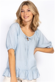 Picture of Ingrid Blouse - Dream Blue