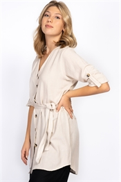 Picture of Thalia Shirt  Linen Sand