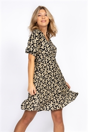 Picture of Daisie Dress Black/Sand/Sun Yellow