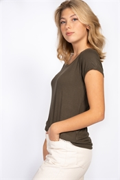 Picture of Tuva Tee Khaki Green