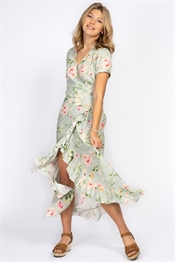 Picture of Brielle Dress Spring Green/Rose/Sun Yellow