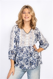 Bild på Catlin Tunic Dream Blue/Creme/Sand