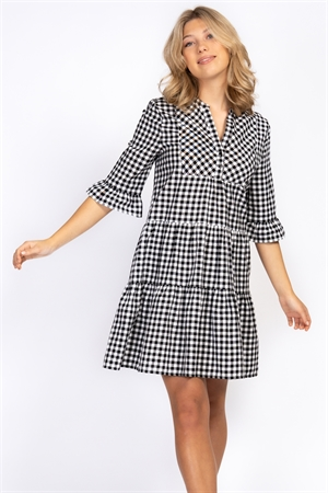 Picture of Ebba Dress - Black/White