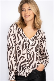 Picture of Mylah Blouse Sand/Black