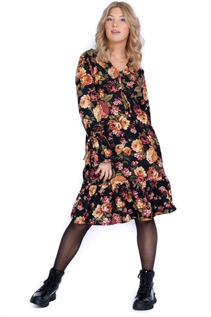 Picture of Kayla Dress Black/Amber/Rose