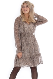 Picture of Vanessa Dress Sandstone/Gold/Chocolate